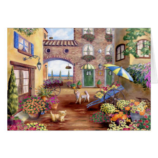 Flower market card