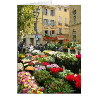 Flower Market in Aix en Provence France Card