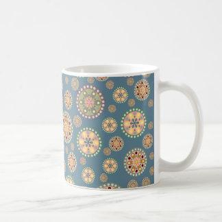 Flower Medallions Pattern Coffee Mugs