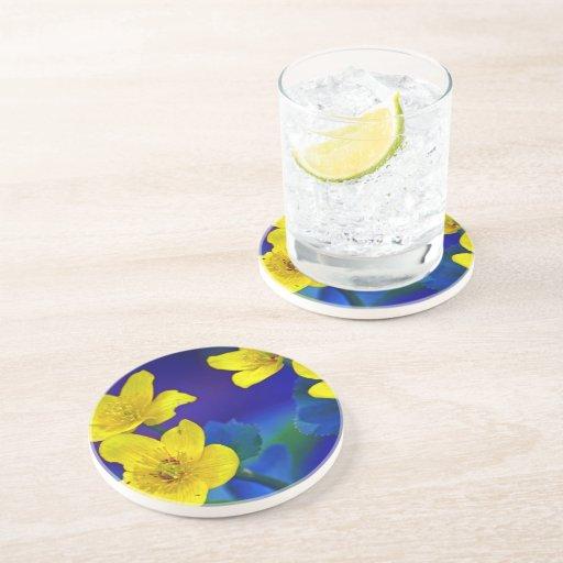 Flower mf 518 beverage coaster
