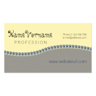 flower mini pack of standard business cards