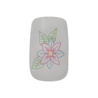flower minx nails minx nail art
