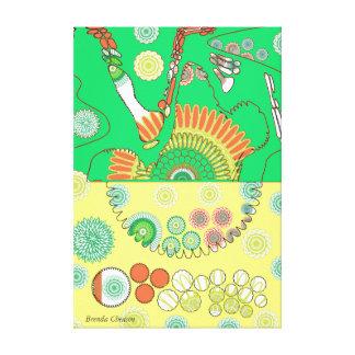 Flower Mixed Media Arrangement Canvas Canvas Prints