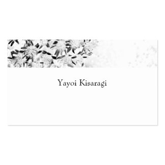 flower monochrome pack of standard business cards