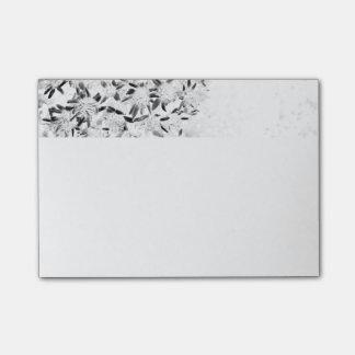 flower monochrome post-it notes