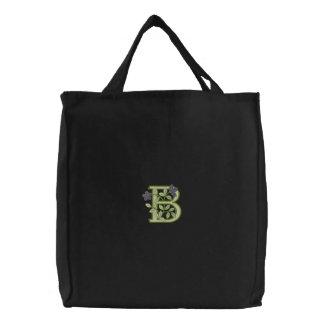 Flower Monogram Initial B Bags