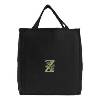 Flower Monogram Initial Z Bag