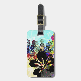 Flower Montage Luggage Tag