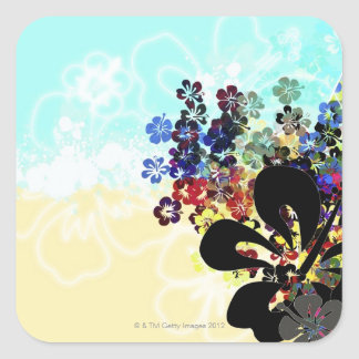 Flower Montage Square Sticker