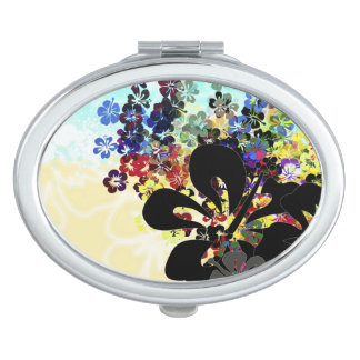 Flower Montage Travel Mirror