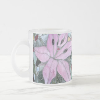 Flower mosaic, Frosted Glass Mug
