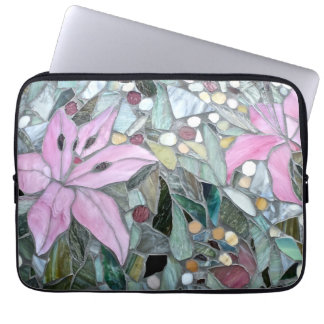 Flower mosaic, Laptop Sleeves