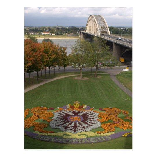 Flower mosaic, Nijmegen Postcard