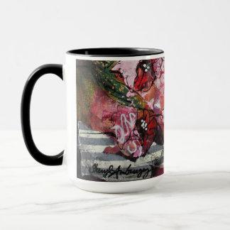 Flower Mug Original Art by Sheryl Amburgey