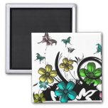 Flower N Butterfly Magnets