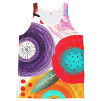 Flower nature still life floral ranunculus plant p All-Over print tank top