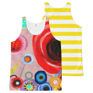 Flower nature still life floral Red Poppy All-Over Print Tank Top