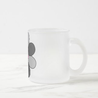 Flower nibbler frosted glass mug