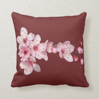 Flower of cherry tree pink color for a garnet cushion