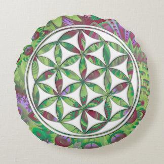 Flower of Gaia Round Cushion
