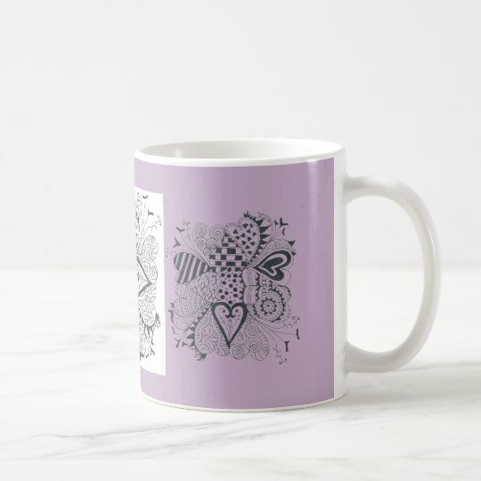 Flower of Hearts Coffee Mug