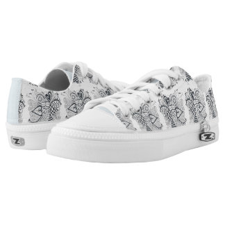 Flower of Hearts Low Tops