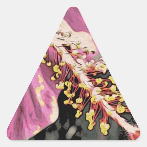 Flower of Hibisco Rosa Triangle Sticker