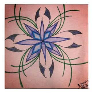 Flower of Inspiration! Acrylic Wall Art