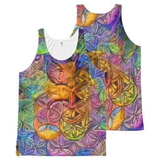 Flower of Life 4 All-Over Print Tank Top