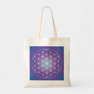 FLOWER OF LIFE - AMETHYST TOTE BAG