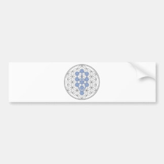 Flower of life and tree of life. bumper sticker