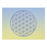 Flower of Life - Archangel Michael Poster