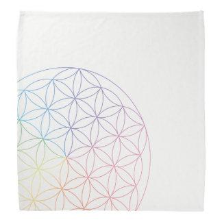Flower of Life Bandana - Prism colours
