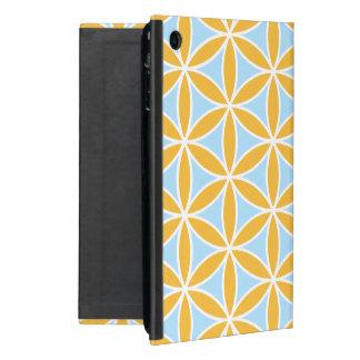 Flower of Life Big Pattern Orange White & Blue Case For iPad Mini