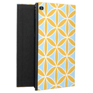 Flower of Life Big Pattern Orange White & Blue Powis iPad Air 2 Case