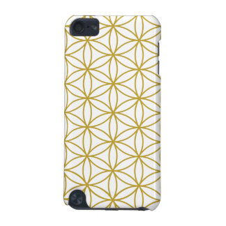 Flower of Life Big Ptn Gold on White iPod Touch 5G Covers