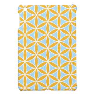 Flower of Life Big Ptn Orange White & Blue Cover For The iPad Mini