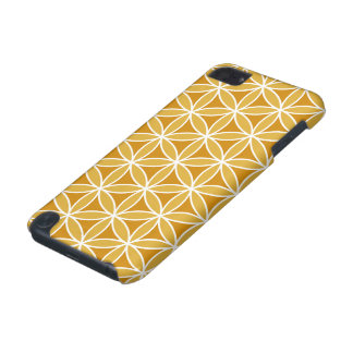 Flower of Life Big Ptn Oranges & White iPod Touch (5th Generation) Cover