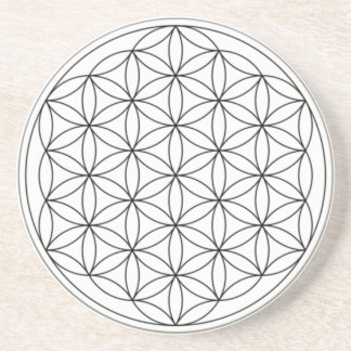 Flower of Life (Black and White) Coaster