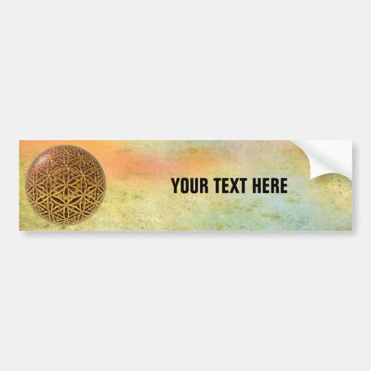 Flower Of Life / Blume des Lebens - ball grid gold Bumper Sticker