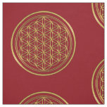 Flower Of Life / Blume des Lebens - brilliant gold Fabric