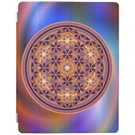 Flower Of Life / Blume des Lebens - Button II iPad Cover
