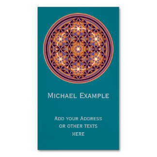 Flower Of Life / Blume des Lebens - Button II Magnetic Business Cards (Pack Of 25)