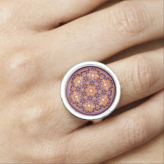 Flower Of Life / Blume des Lebens - Button II Photo Rings