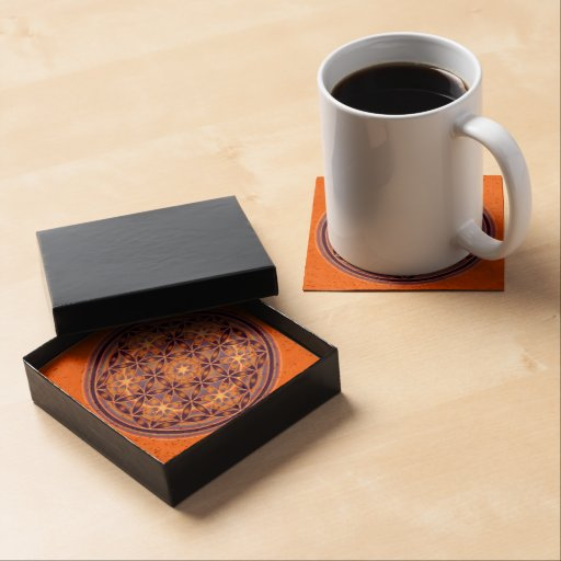 Flower of Life / Blume des Lebens - Button II Drink Coasters