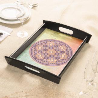 Flower of Life / Blume des Lebens - Button II Serving Platters