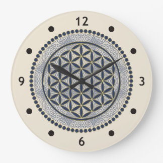 Flower of Life / Blume des Lebens - Button IX Wallclock