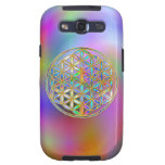 Flower Of Life / Blume des Lebens - colorful shine Galaxy SIII Cover