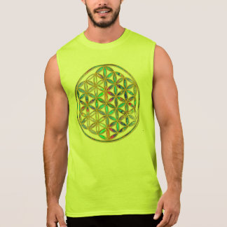 Flower of Life / Blume des Lebens - gold colorful Sleeveless Shirt