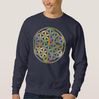 Flower of Life / Blume des Lebens - gold colorful Sweatshirt